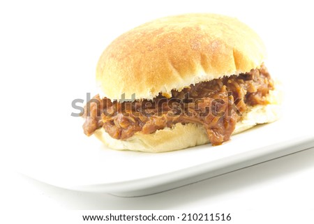 Pulled pork sloppy joe, a not so healthy summer American staple