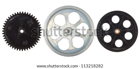 Pulleys, gears - stock photo