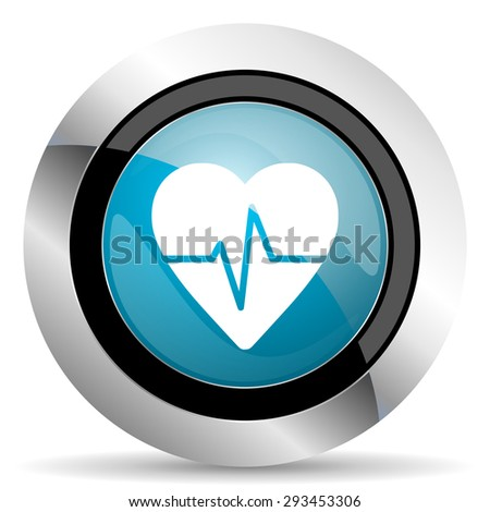 pulse icon heart rate sign  - stock photo