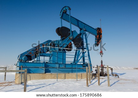 Pump Jack, Alberta Canada - stock photo