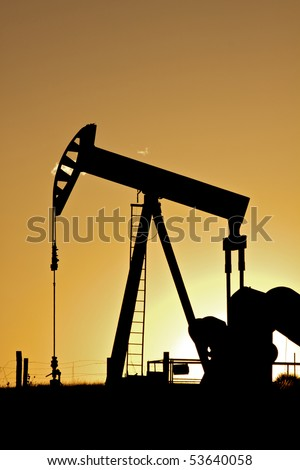 Pump jack in Sunset