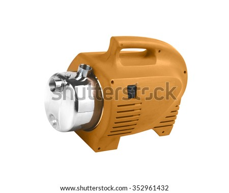 Pump with an electric motor of ruge color