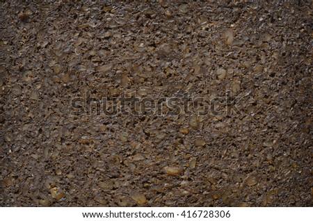 pumpernickel slice bread background texture texture - stock photo