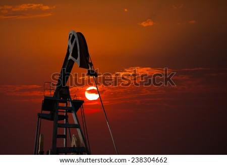 pumpjack  - stock photo