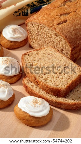 Pumpkin bread and cookies