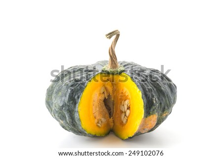 pumpkin isolated on white background - stock photo