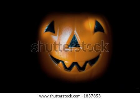 Pumpkin on a black background - stock photo
