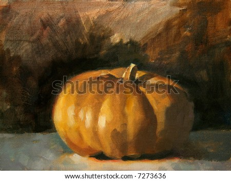 Pumpkin Painting - stock photo