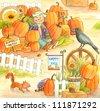 Pumpkin Patch - stock vector