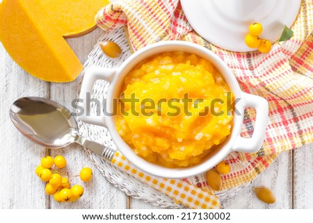Pumpkin porridge - stock photo