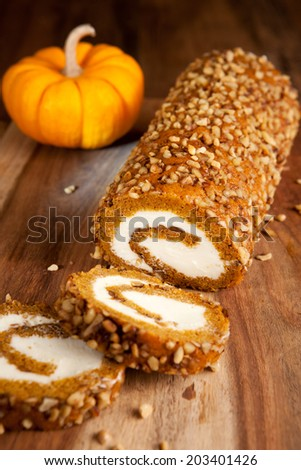 Pumpkin roll - stock photo