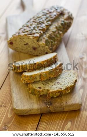 Pumpkin Seed Bread - stock photo