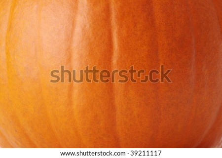 Pumpkin skin texture (orange background) - stock photo