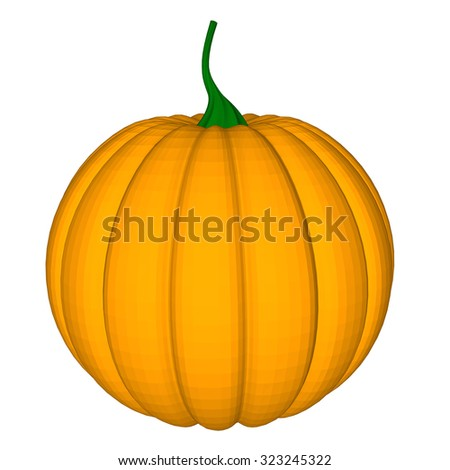 pumpkin with an evil expression on his face Raster 2 - stock photo