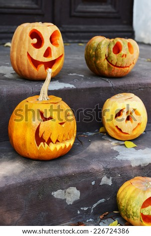 Pumpkins for holiday Halloween