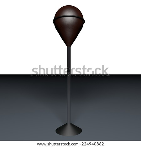 Punching ball over standing, 3d render, square image