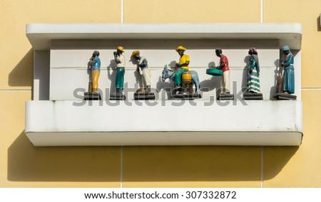 Punda Views around Curacao a small Caribbean Island in the ABC islands - stock photo