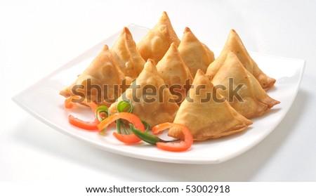 Punjabi Samosa - stock photo
