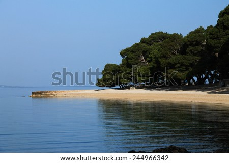 Punta Rata beach in Brela , Croatia - stock photo