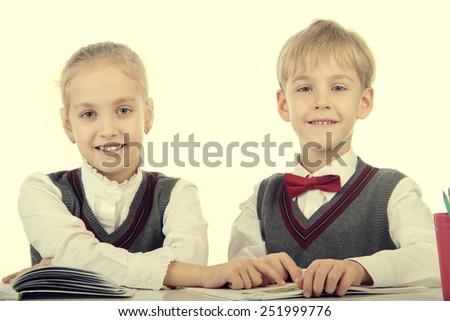 pupils - stock photo
