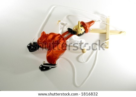 puppet dummy Pinocchio - stock photo
