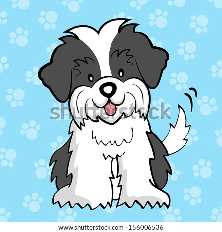 Cute Cartoon Shih Tzu Stock Images Royalty Free Images