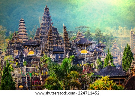 Pura Besakih temple, Bali, Indonesia - stock photo