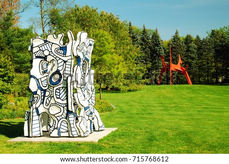 Donald M Kendall Sculpture Gardens Stock Images, Royalty-Free Images ...