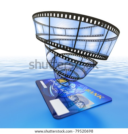 Purchase online video - stock photo