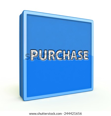 Purchase square icon on white background