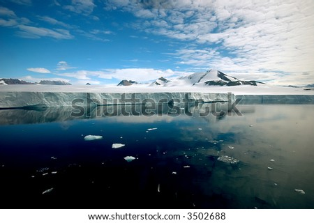 Pure Antarctica - stock photo