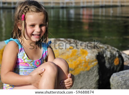 Pure kid smile - stock photo