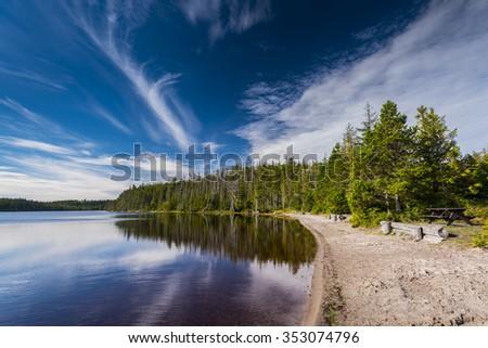 Pure Lake, Haida Gwaii British Columbia - stock photo