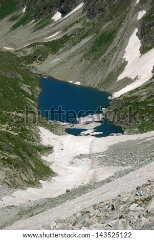 Pure mountain lake, Inspiring wilderness of Alpine