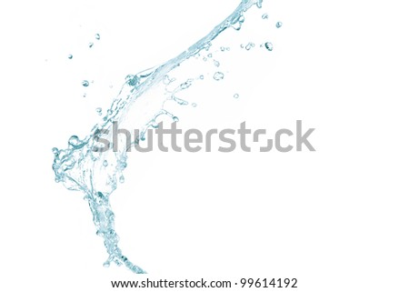 Pure splash of water isolated on white background - stock photo