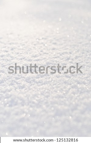 pure white snow sparkles on the sun - stock photo