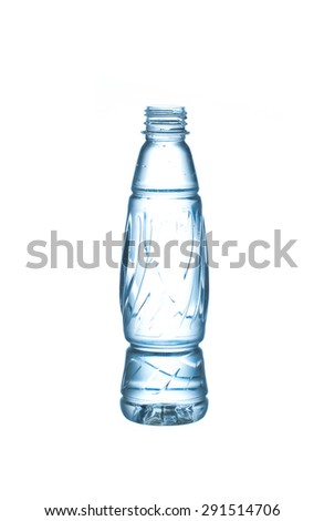 purified water bottle isolated on white background - stock photo
