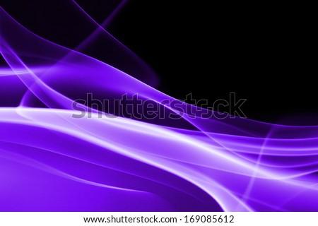 Purple abstract smoke on black background - macro photo - stock photo