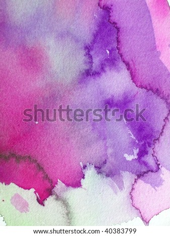 purple abstract watercolor background - stock photo