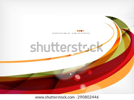 Purple and orange color lines, glossy background - stock photo