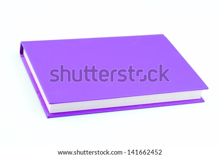 Purple book on isolated - stock photo