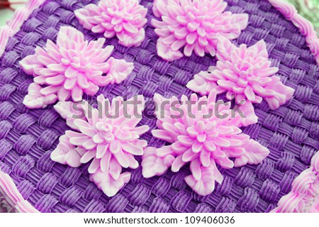 Purple cake - stock photo