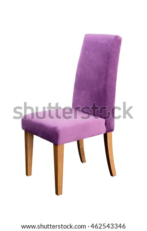 purple chair isolated on white background this has a clipping path
