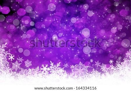 Purple christmas background - stock photo