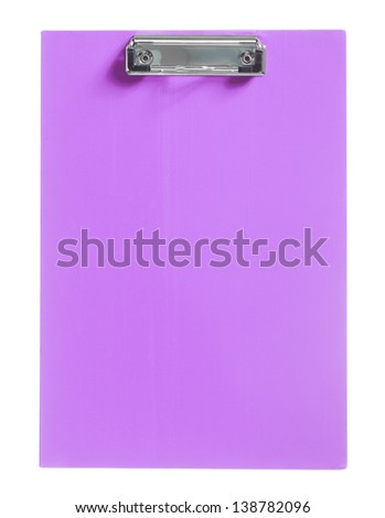 purple clipboard isolated - stock photo