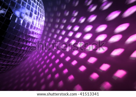 purple disco lights backdrop - stock photo