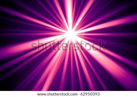 purple disco rays - stock photo