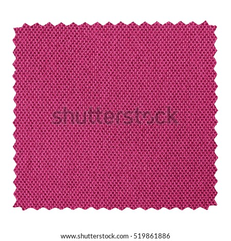 Purple fabric swatch with zig zag border cut with pinking shears