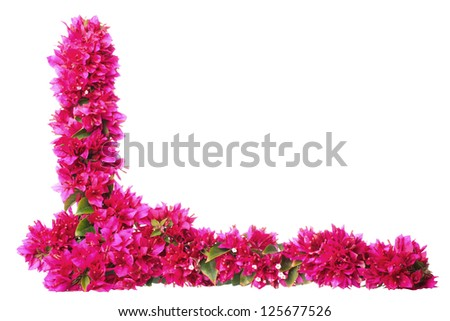 Purple floral border with copy space - stock photo