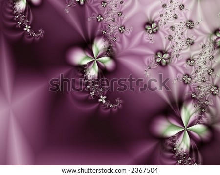 Purple Flower Satin Background